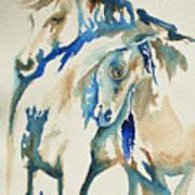 Holding On     War Ponies Art Print