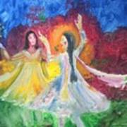 Holi-festival Of Colors Art Print