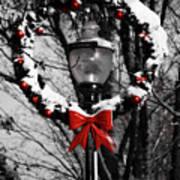 Holiday Lamp Post Art Print