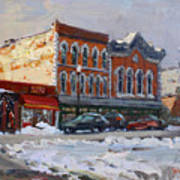 Holiday Shopping In Tonawanda Art Print