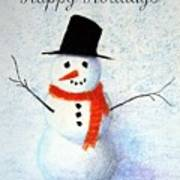 Holiday Snowman Art Print