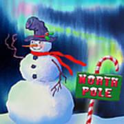 Holiday Top Hat Art Print