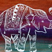 Holi's First Dance Art Print