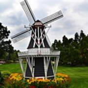 Holland Grey Windmill  Art Print