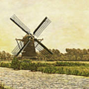 Holland - Windmill Art Print