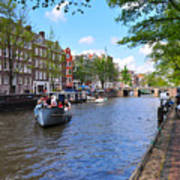 Hollanders On Canal - Color Art Print