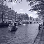 Hollanders On Canal  Art Print