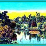 Hollenbeck Park Lake In Los Angeles, 1910 Art Print