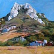 Hollister Peak Art Print