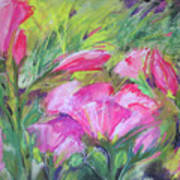 Hollyhock Breeze Art Print