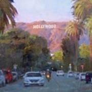 Hollywood Sunset Art Print