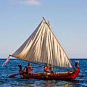 Holokai - Pacific Islander Sailing Canoe Art Print