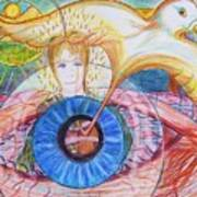 Holy Ghost Shining Eyes Print by Richard  Hubal