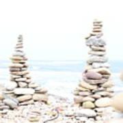 Holy Island Pebbles Art Print