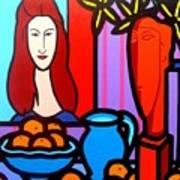 Homage To Modigliani II Art Print
