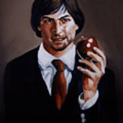 Homage To Steve Jobs Print by Emily Jones