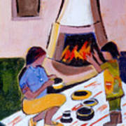 Home And Hearth In Taos Art Print