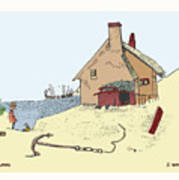 Home By The Sea Print by Donna Munro