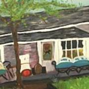 Home In Feeding Hills Mass Part 1 Art Print