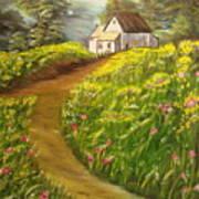 Home In Springtime Art Print