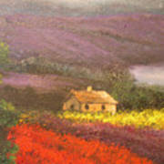 Home In The Hills Of Tuscany Art Print
