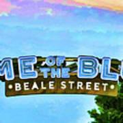 Home Of The Blues - Beale Street Art Print