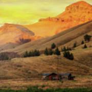 Home On The Range In Antelope Oregon Art Print