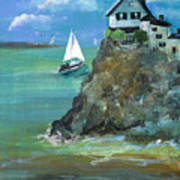 Home Overlooking The Sea Art Print