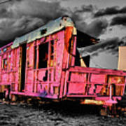Home Pink Home Black And White Art Print