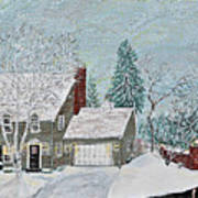 Winter Home Art Print