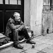 Homeless In Brussels Art Print