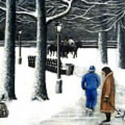 Homeless In Central Park Art Print