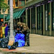 Homeless In Nyc Art Print
