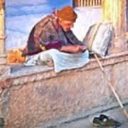 Homeless Man In India Art Print