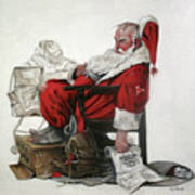 Homeless Santa Art Print