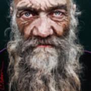 Homeless Veteran Art Print