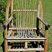 Homemade Lawn Chair Art Print