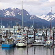 Homer Harbor Art Print