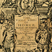 Homer Title Page, 1616 Art Print