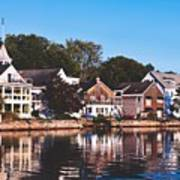 Homes On Kennebunkport Harbor Art Print