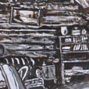 Homestead Interior Historical Vignette Art Print