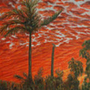 Homestead Sunset Art Print