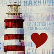 Hometown Bahamas Lighthouse Art Print