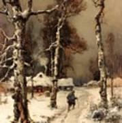 Homeward Through The Winter Forest Art Print