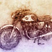 Honda Cb77 - Honda Motorcycles 2 - Motorcycle Poster - Automotive Art Art Print