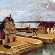 Honfleur  Houses On The Quay Art Print