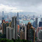 Hong Kong After Rain Art Print