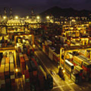 Hong Kong Container Terminal, One Art Print