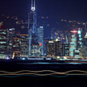 Hong Kong Harbor Art Print