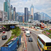 Hong Kong Traffic II Art Print